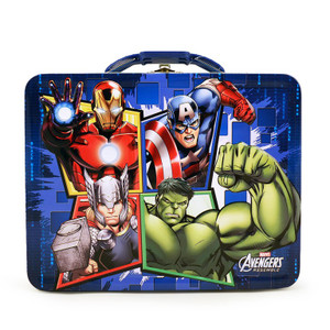Avengers Blue Embossed Carry All Tin Lunch Box