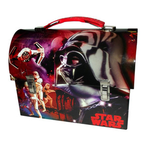 Star Wars Darth Vader Empire Large Workman Carry All Tin Lunch Box