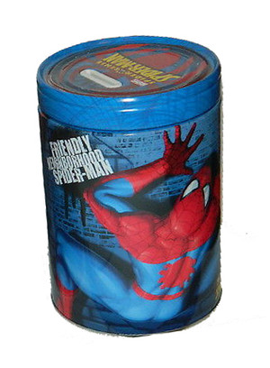 Spider-Man Friendly Neighborhood Spider-Man Round Tin Coin Bank