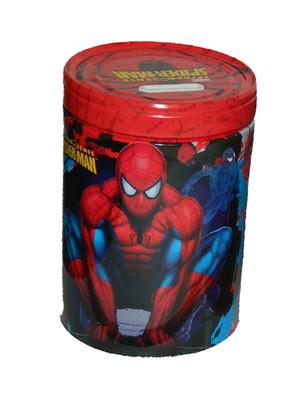 Spider-Man Crouching Round Tin Coin Bank