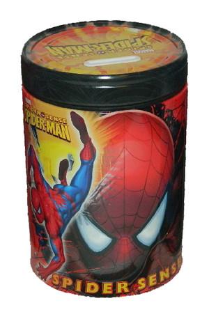 Spider-Man Spider Sense Round Tin Coin Bank