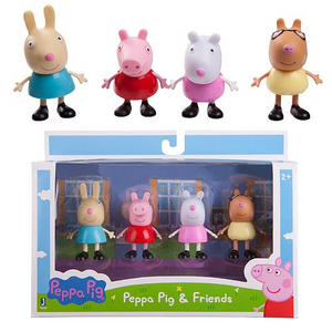 Peppa Pig Peppa and Best Friends 3-Inch Figures 4-Pack