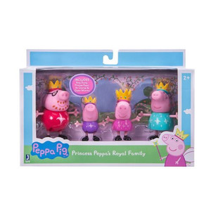 Princess Peppa Pig Royal Family 3-Inch Figures 4-Pack