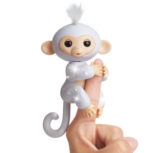 Fingerlings Glitter Monkey - Sugar (White Glitter)