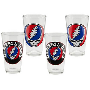 Grateful Dead 16-Ounce Glasses 4-Pack