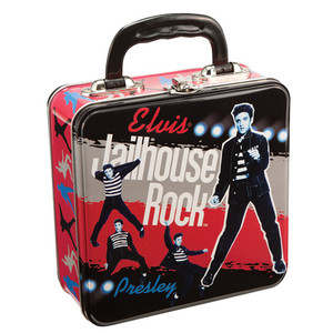 Elvis Presley Jailhouse Rock Square Tin Tote