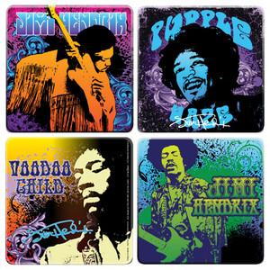 Jimi Hendrix Coaster 4-Pack