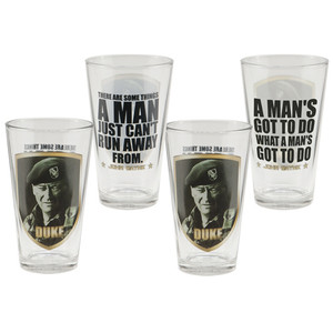 John Wayne Duke 16-Ounce Glasses 4-Pack