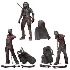 The Walking Dead TV Bloody Black-and-White Michonne and Zombies (Not Mint)