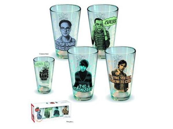 Big Bang Theory Character Pint Glass 4-pack