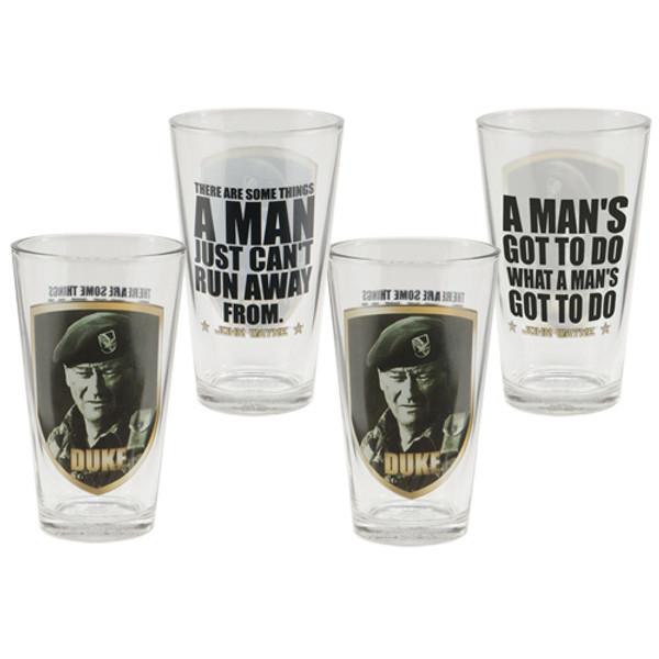 John Wayne Duke 16-Ounce Glasses 4-Pack