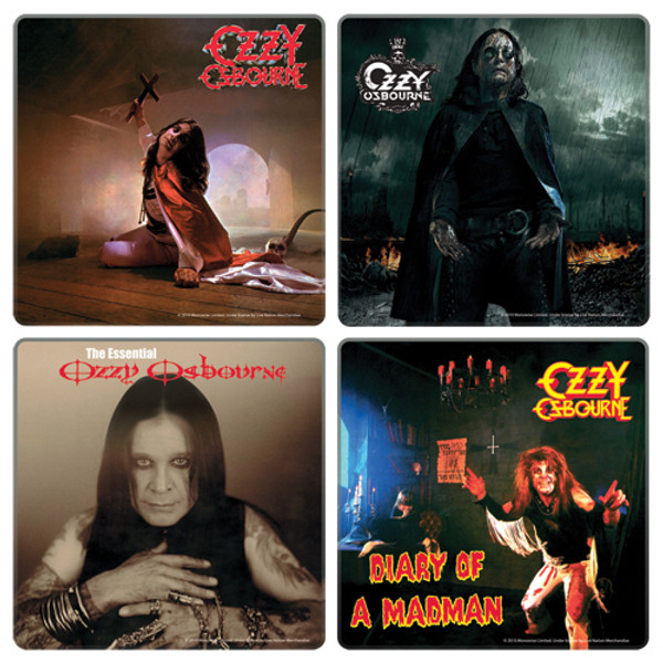 Ozzy Osbourne Album Cover Coaster 4-Pack