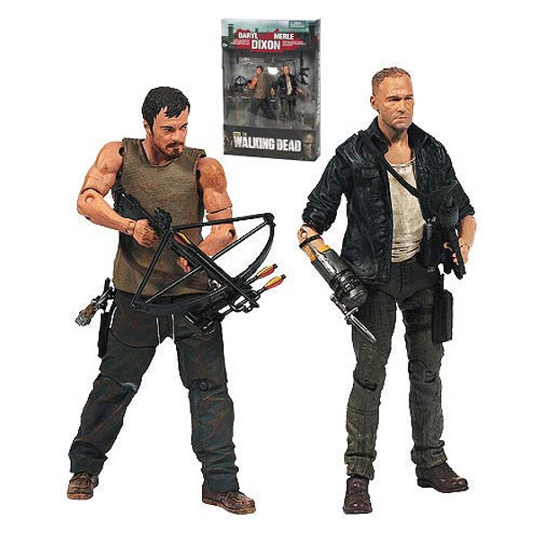 The Walking Dead TV Merle and Daryl Dixon Action Figure 2-Pack