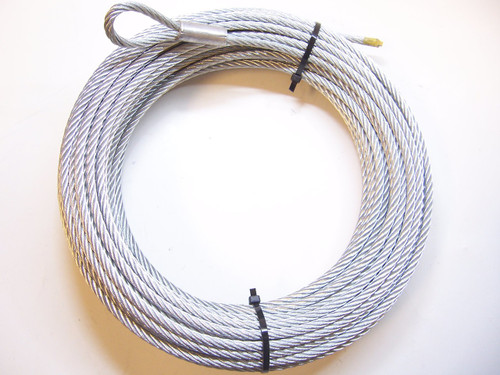 """Galvanized Wire Rope Winch Cable 1/4"""", 7x19, 100 ft"""