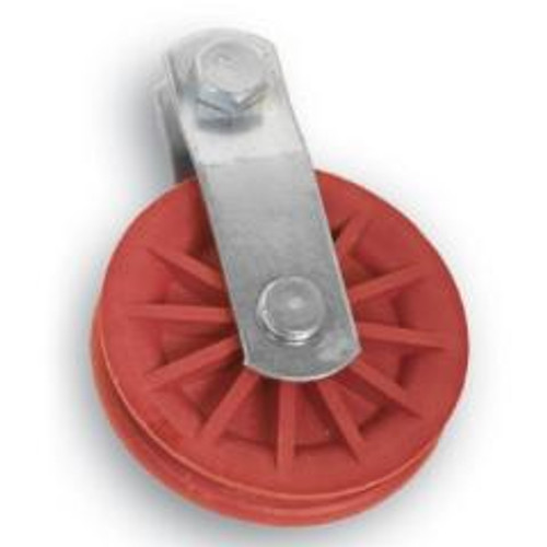 """3-1/2"""" Red Nylon Composite Pulley"""