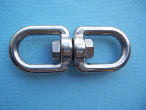 """304 Stainless Steel Eye/Eye Swivel, 10 mm (Trade Size 3/8"""")"""
