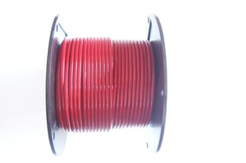 "RED Vinyl Coated Cable, 1/8""-3/16"", 7x7, 250 ft reel."