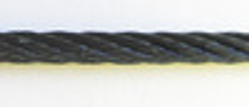 """Black Powder Coated Galvanized Cable 1/8"""", 7x19, 250 ft reel"""