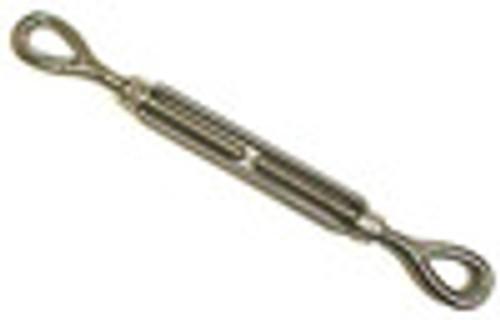 "Stainless Steel Turnbuckle, Eye/Eye, 1/4"" x 4"""