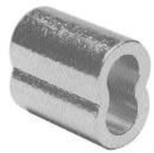 """Zinc Plated Copper Swage Sleeve, 3/32"""", 100 pieces"""