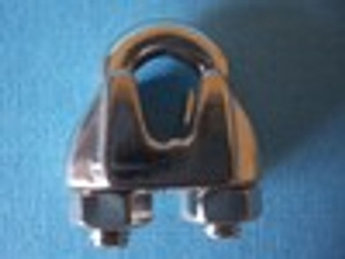 """Stainless Steel Malleable Wire Rope Clip,  5/16"""""""