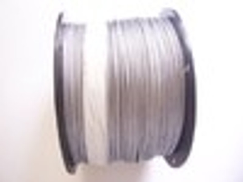 """Galvanized Cable  1/8"""", 7x7, 1000 ft Reel  (USPS Priority Mail)"""
