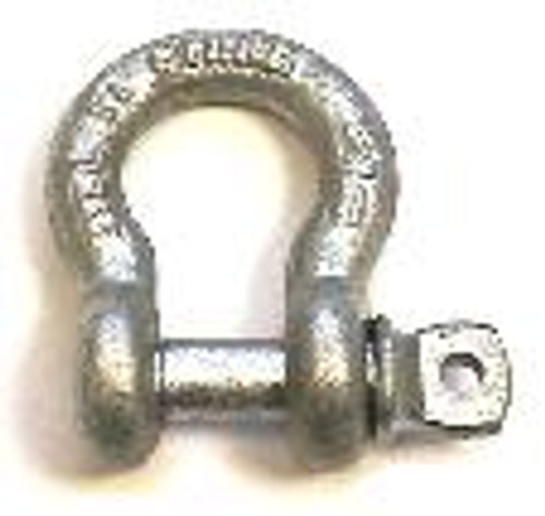 Load Rated, Screw Pin Anchor Shackle, 1/2""