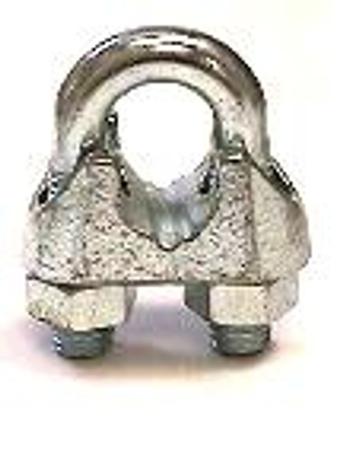 """Malleable Wire Rope Clip 1/4"""""""