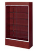 "Economy Wall Case 48"" L x 78""H Walnut Cherry Finish"
