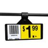 """3"""" L x 1.25"""" H Clip On Black Shelf Label Holder"""