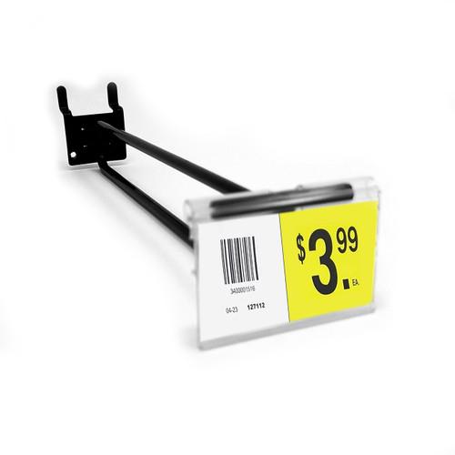 """8"""" Black Pegboard Flip Up Scanner Hooks with Label Holders"""