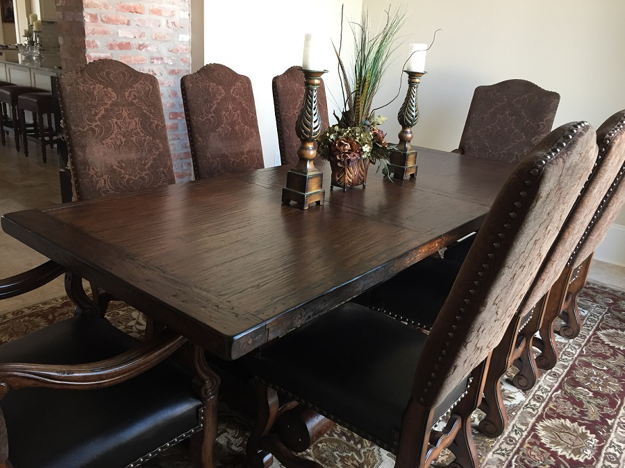 Spanish Colonial Extra Long Extension Dining Table