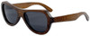 Rockaway Butterfly Polarized Brown Bamboo Wood Sunglasses Side