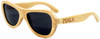 Rockaway Butterfly Polarized Natural Bamboo Wooden Sunglasses Side