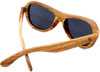 Rockaway Butterfly Polarized Zebrawood Sunglasses Back