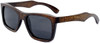Cloudbreak Polarized Square Brown Bamboo Wood Sunglasses Side