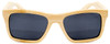 Cloudbreak Polarized Square Natural Bamboo Wooden Sunglasses Straight