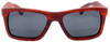 Cloudbreak Polarized Square Red Rosewood Sunglasses Straight