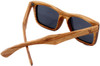 Cloudbreak Polarized Square Zebrawood Sunglasses Back