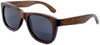 Coronado Wayfarer Style Polarized  Brown Bamboo Wood Frame Sunglasses Side
