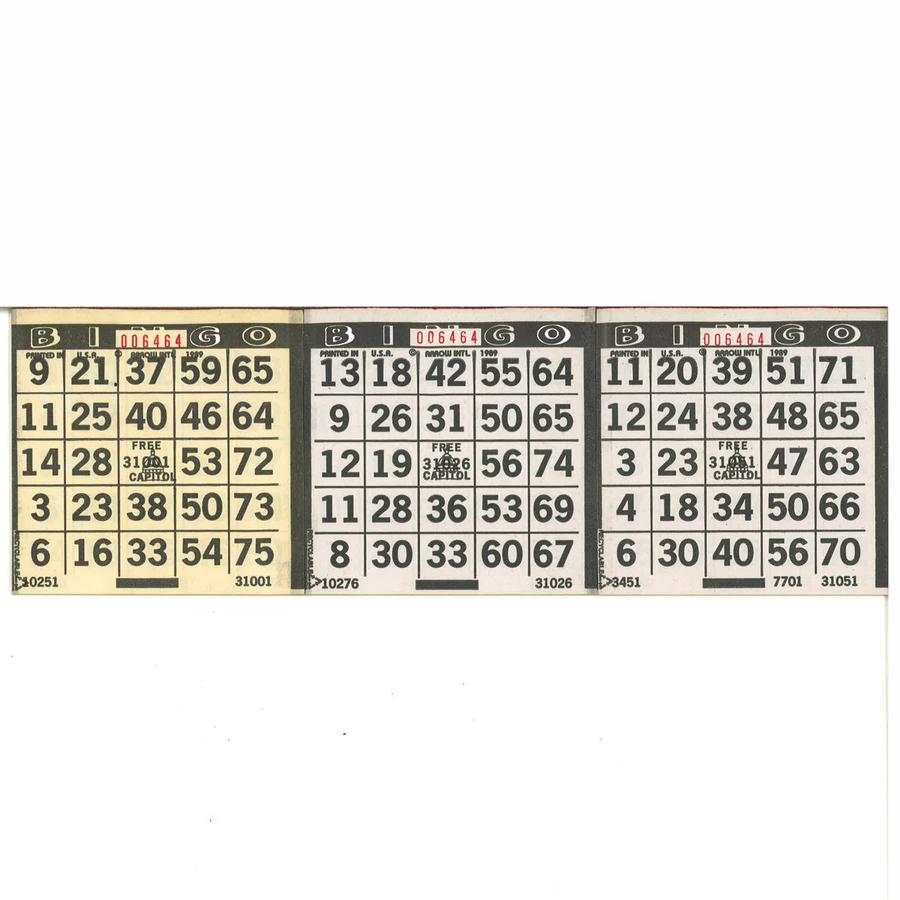 Bingo Paper 1 On (500 Sheets)