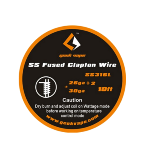 Geek Vape Fused Clapton SS316 Wire (26GA*2/Paralleled + 30GA)