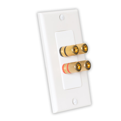 Theater Solutions WP2 Home Theater Speaker Wire Wall Plate 2 Speaker