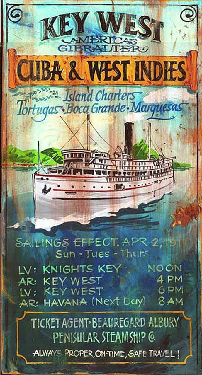 New Home Interior Design Key West Vacation Home: Key West Charters Wooden Boat Sign