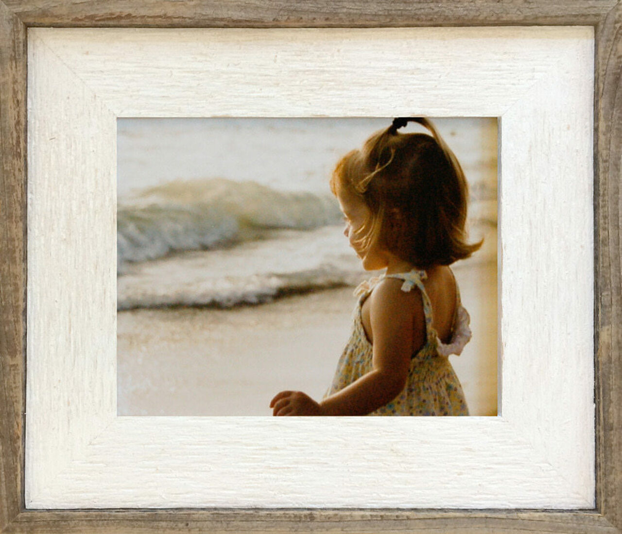 Barnwood Picture Frame with Whitewash Finish, Size 16x20 Reclaimed ...