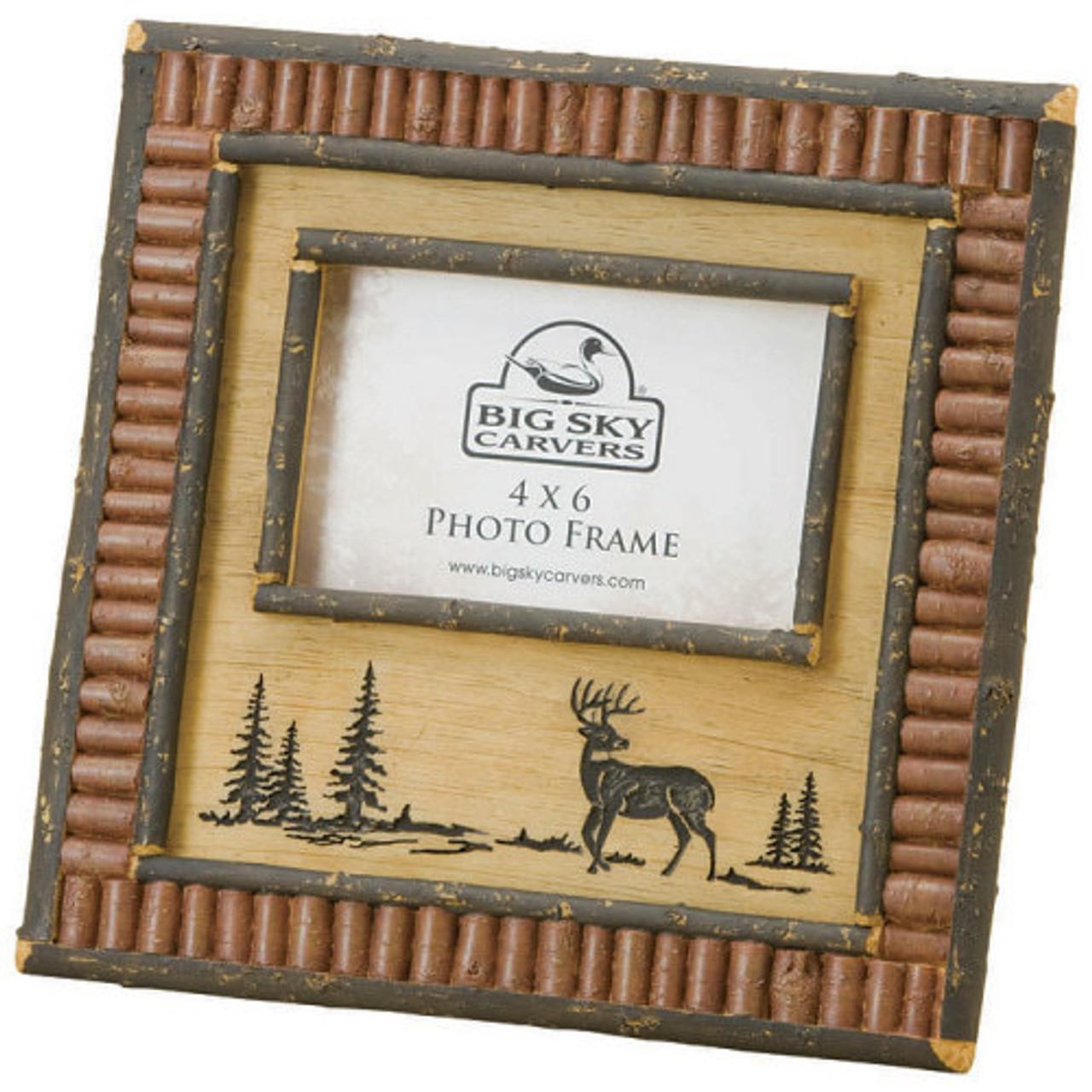 deer and red twig 4x6 picture frame. Black Bedroom Furniture Sets. Home Design Ideas