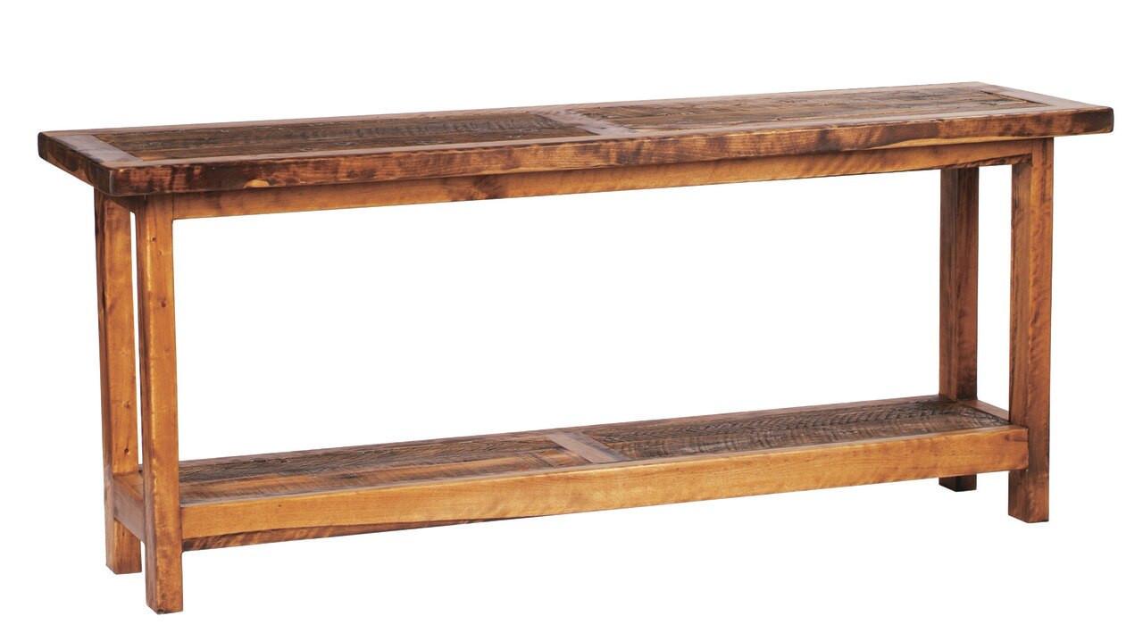 Reclaimed wood sofa table inch barnwood tables