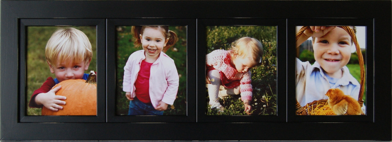 Collage Frames | 4 Opening Black 8x10 Multi Photo Picture Frame