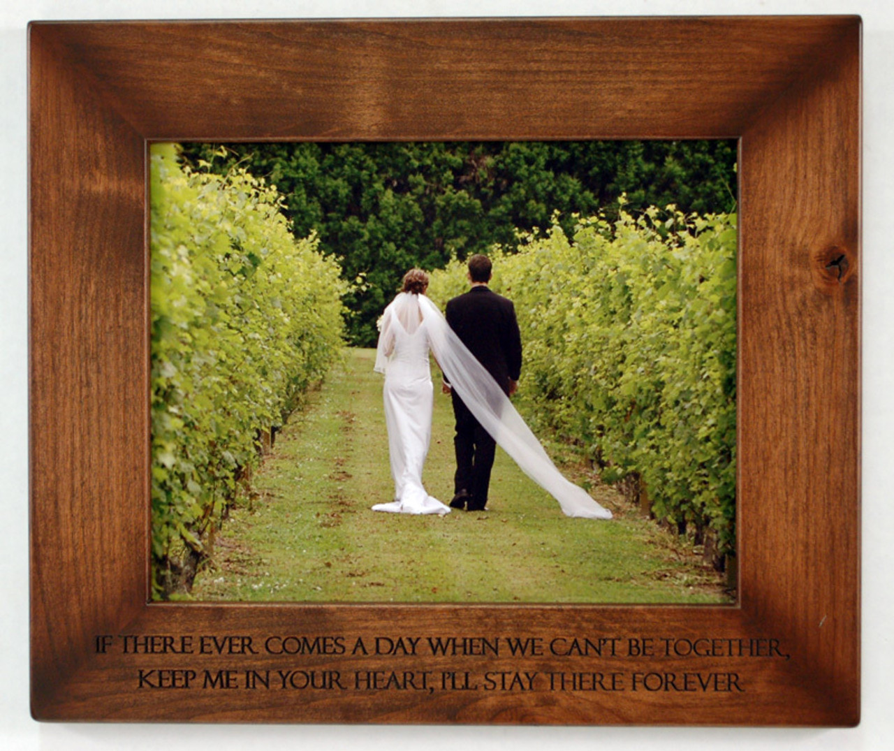 8x10 Laser Engraved Wood Picture Frame | Personalized Wood Frames