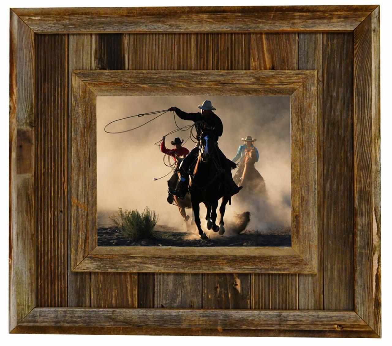 Rustic Barnwood Frame | Durango 18x24 Aged Wood